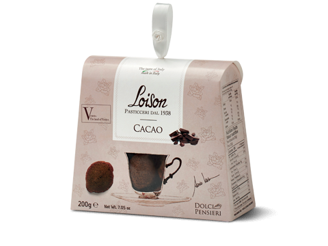 astuccio biscotto monoporzione cacao - Loison
