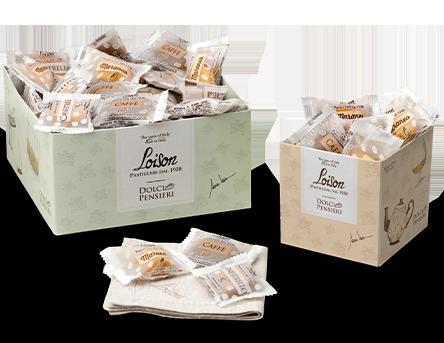 espositore biscotti Loison in carta