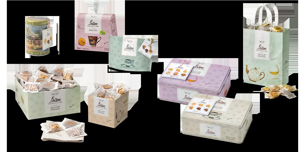 set confezioni biscotti Loison